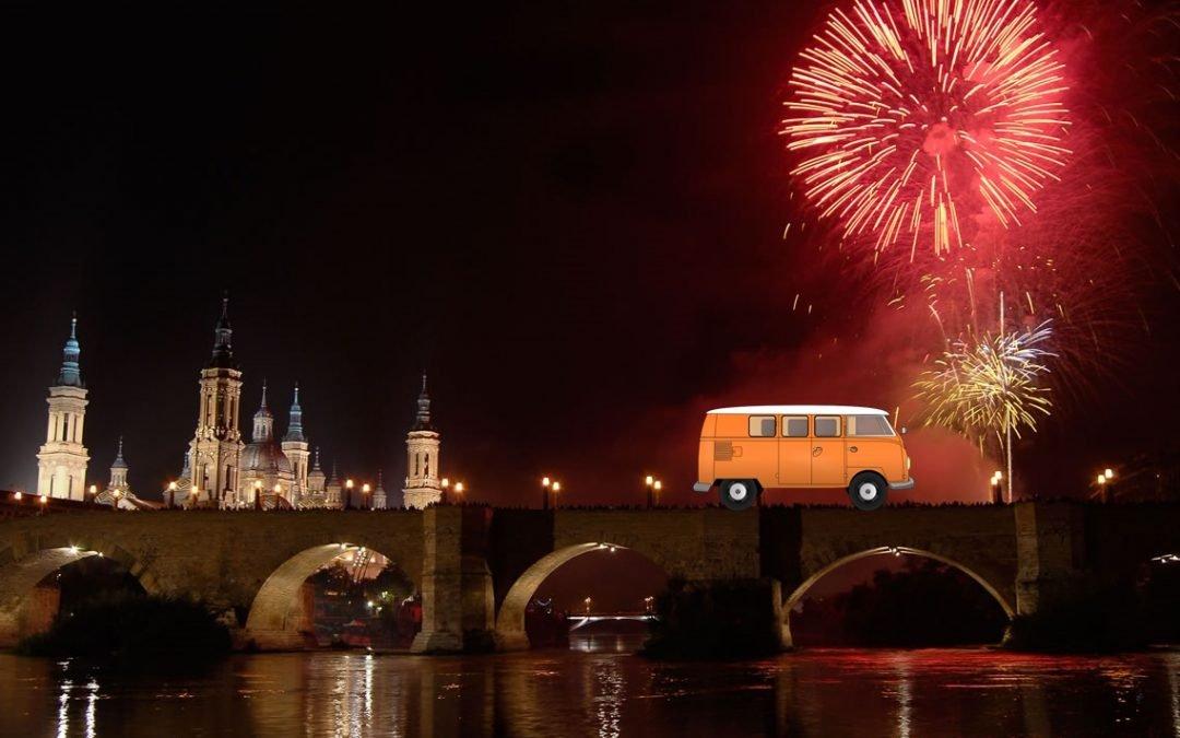 Alquilar una furgoneta y viajar a Zaragoza para las Fiestas del Pilar 2016