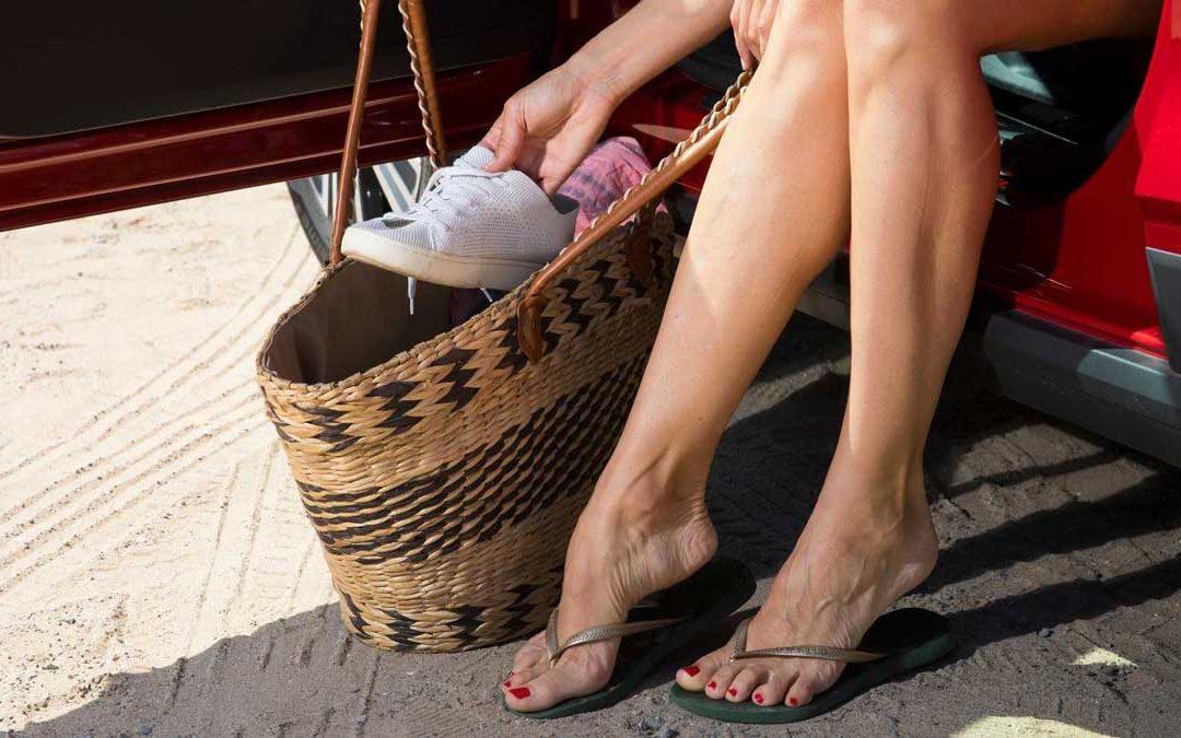 Conducir con chanclas: El calzado importa